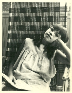 Lila, the bookworm, way back in the day.