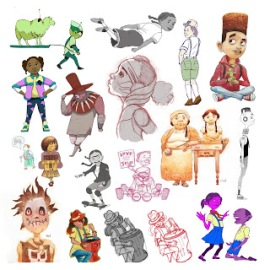 Characters collage