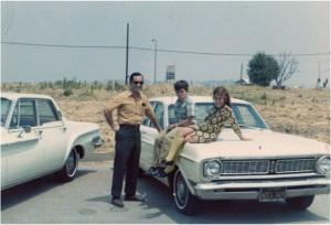 Me on hood of car