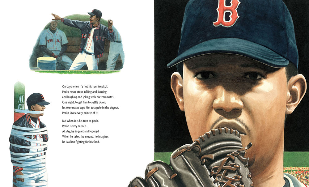 GROWING UP PEDRO. Text and Illustrations copyright 2015 Matt Tavares. Reproduced by permission of the publisher, Candlewick Press, Inc., Somerville, MA.