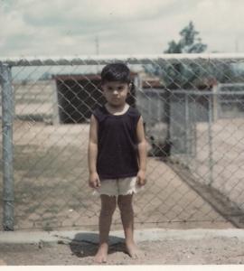 The author-illustrator Xavier Garza as a child.