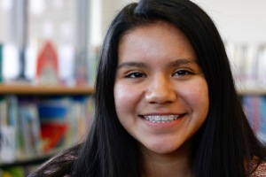 Melissa, an 8th grader who plans to go to MIT and be a college math professor.
